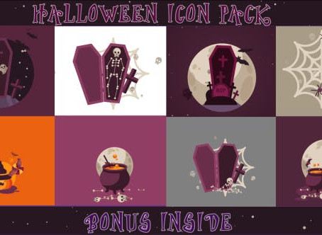 VIDEOHIVE HALLOWEEN ICON PACK