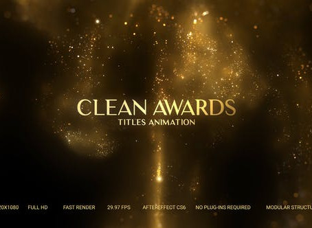 VIDEOHIVE GOLDEN PARTICLES AWARD TITLES