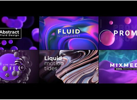VIDEOHIVE ABSTRACT TITLES 28332050