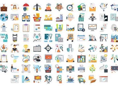 VIDEOHIVE 100 BUSINESS AND STARTUP ICONS
