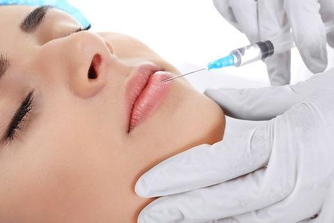 Plastic surgery concept. Hyaluronic acid