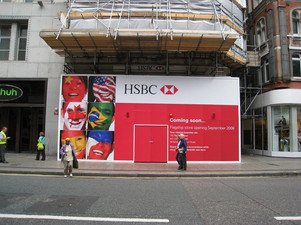 HSBC Oxford Street hoarding - post insta