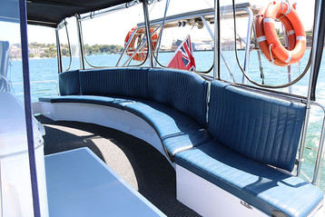 Sydney Boat Adventures - Seating