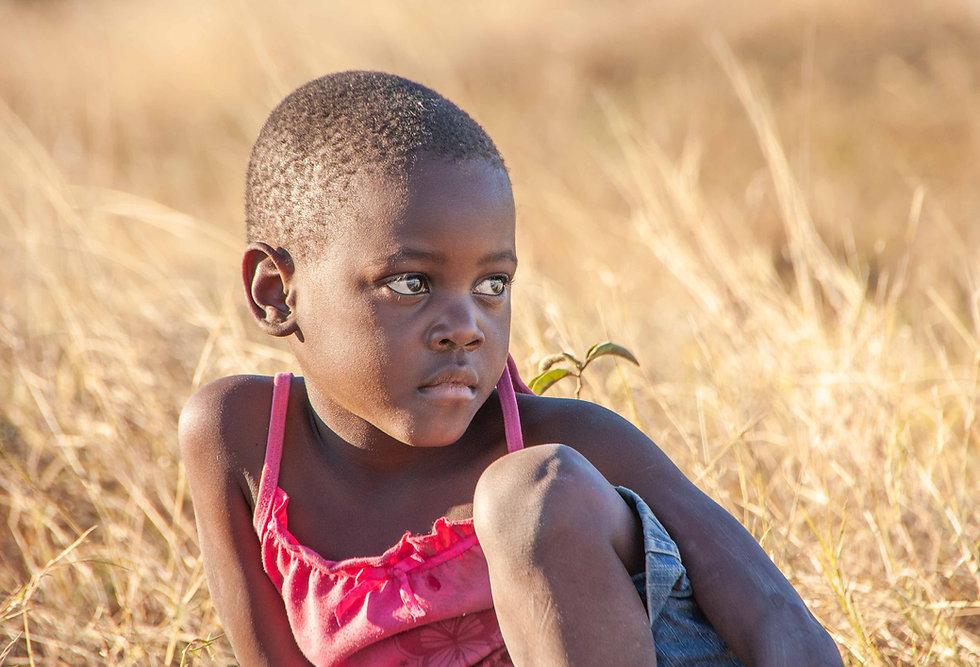 Niña en Botswana