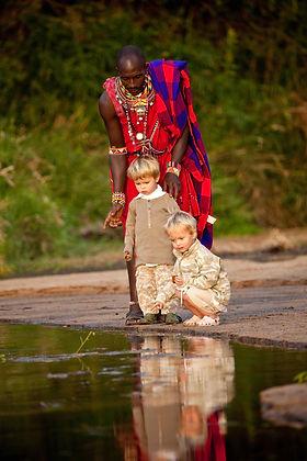 Safari con niños en Sala's Camp, Masai M