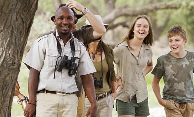 Safari con niños en Botswana