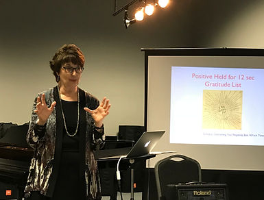 Dr. Barbara Fast (OU) giving a workshop on Overcoming Negativity Bias and piano pedagogy