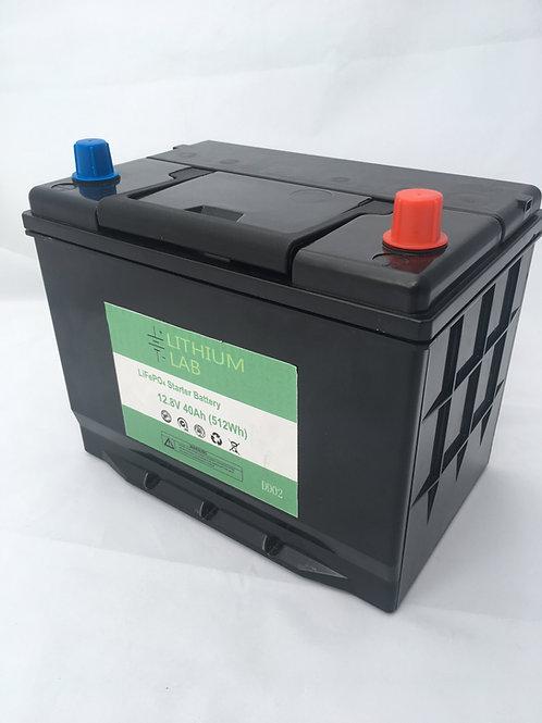 12Volt 40Ah engine start / cranking battery