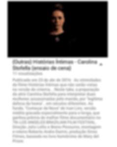 Longa Metragem: Histórias Íntimas. Roteiro André Damin. Direção: Julio Lelis e Breno Pessurno