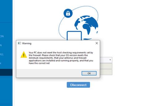 SSL VPN Host Check for Registry Key