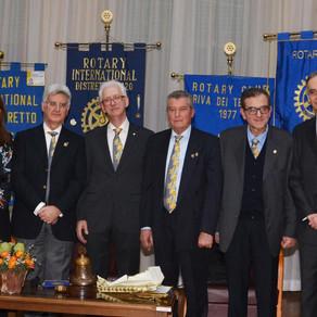 Sette Club, due governatori, un board director per festeggiare il 113° anniversario del Rotary.