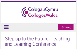 Keynote speaker for Colleges Wales conference: Step up to the Future