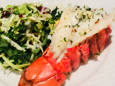 Simple Lobster Tail and Slaw