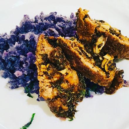 Pork and Purple Cauliflower