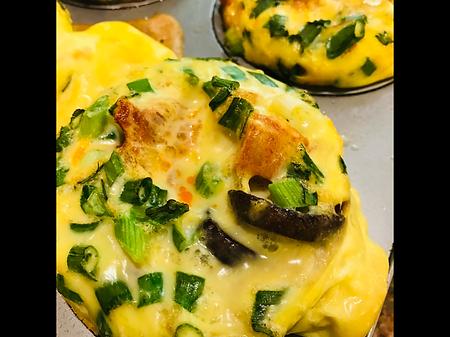 Egg Muffins with Mushroom and Chorizo