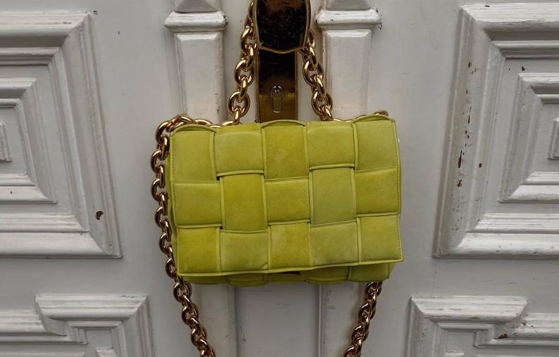 AESTHETIC _ yellow Bottega bag x doors.j