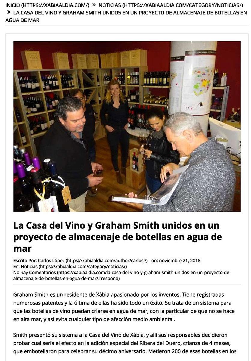 Sea Aged Wine tasting Casa Del Vino-page