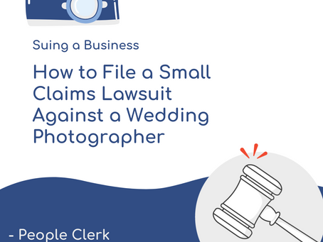 How to Sue a Wedding Photographer in Small Claims Court