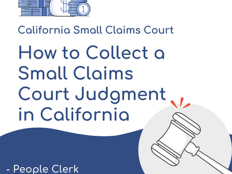 Collecting a Small Claims Court Judgment in California