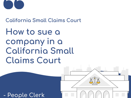 How to sue a company in a California Small Claims Court