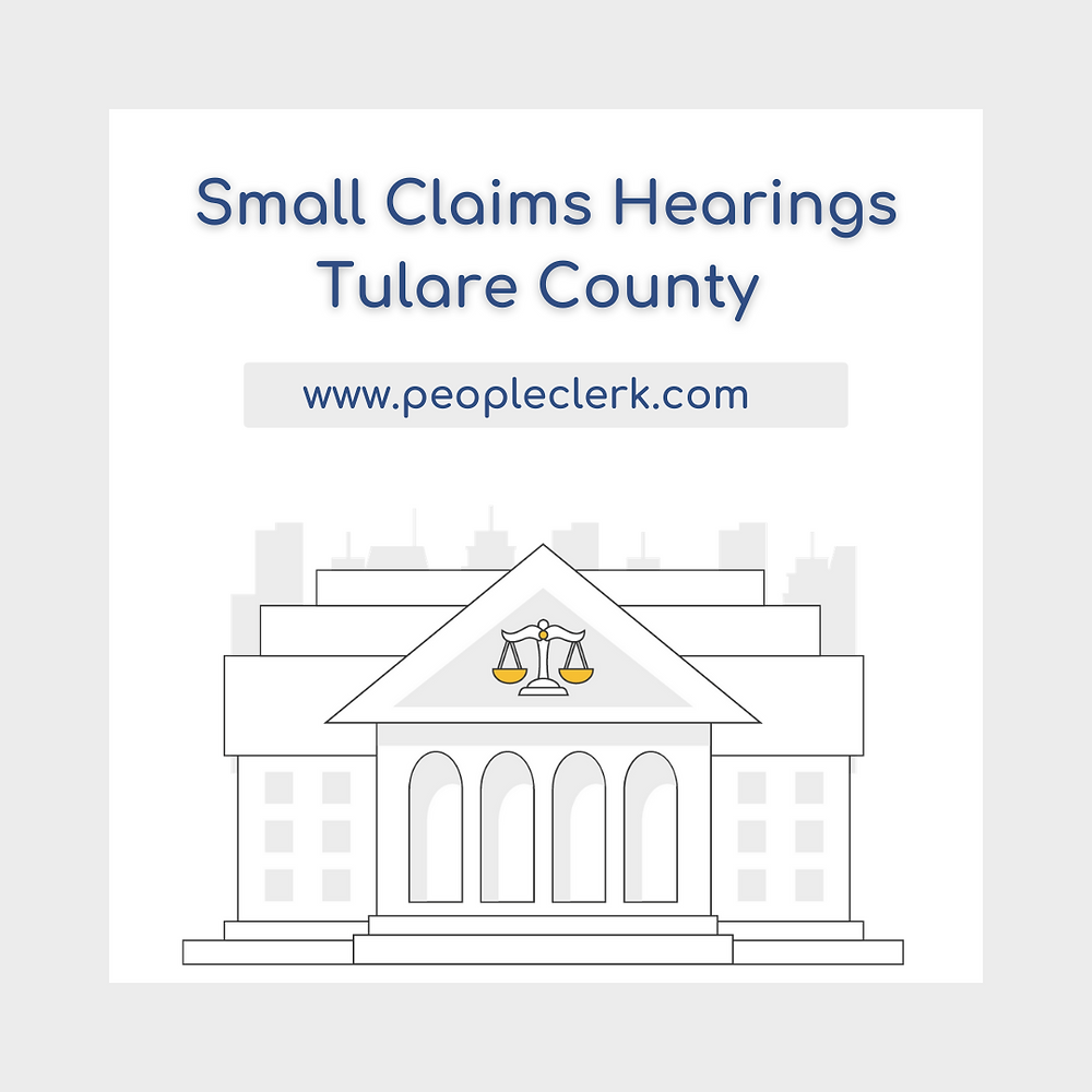 How to prepare for a small claims court hearing in Tulare  County
