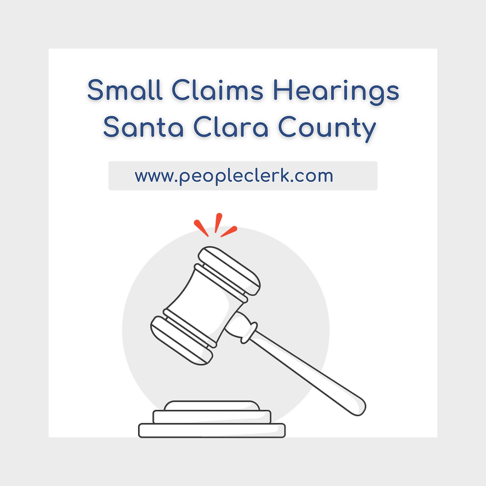 How to prepare for a small claims court hearing in Santa Clara  county