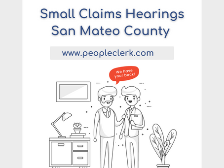 The Small Claims Hearing- San Mateo County