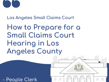The Small Claims Hearing- Los Angeles