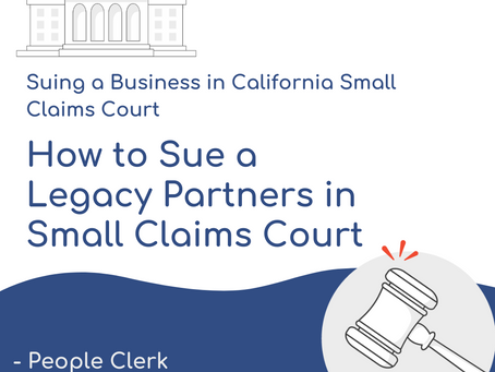How to Sue Legacy Partners in Small Claims Court