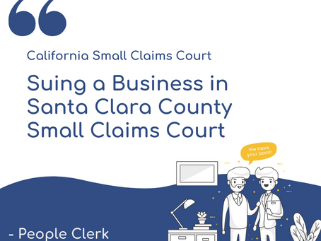 How to sue a company in Santa Clara Small Claims Court