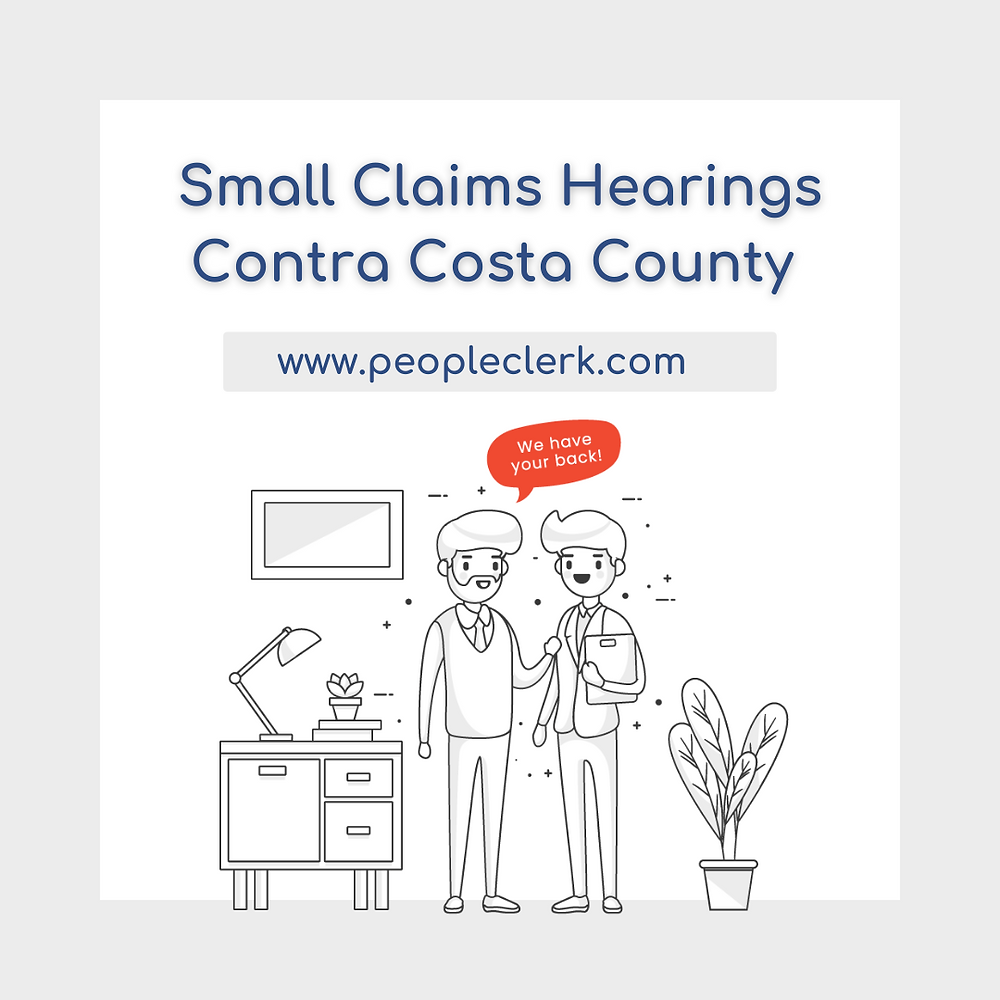 How to prepare for a small claims court hearing in Contra Costa county