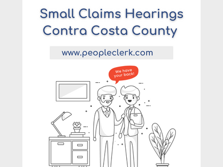 The Small Claims Hearing- Contra Costa County