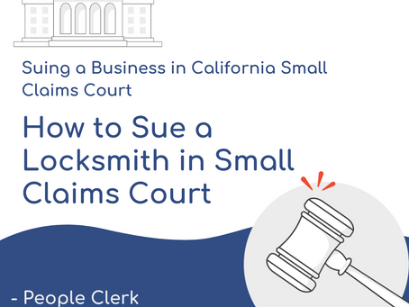 How to Sue a Locksmith in Small Claims Court