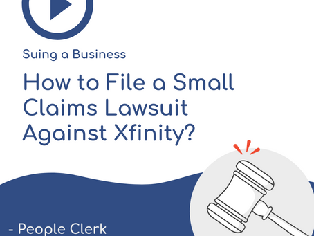How To Sue Xfinity in Small Claims Court?