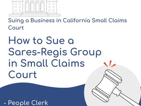 How to Sue Sares Regis Group in Small Claims Court