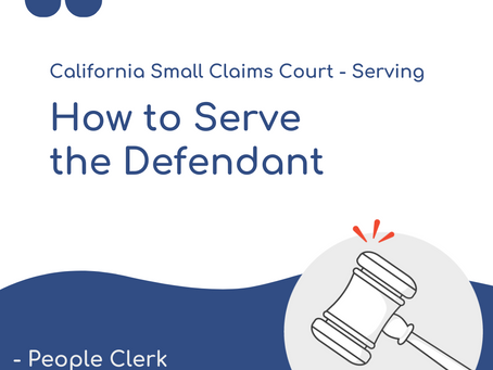 How to Serve the Defendant