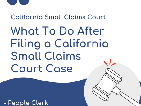 Steps Further Filing a California Small claims Lawsuit