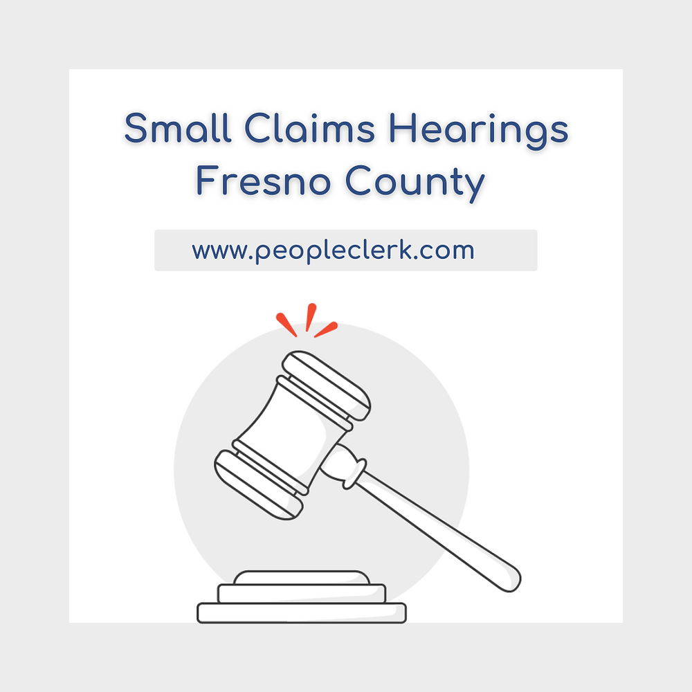 How to prepare for a small claims court hearing in Fresno county