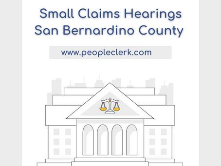 The Small Claims Hearing- San Bernardino
