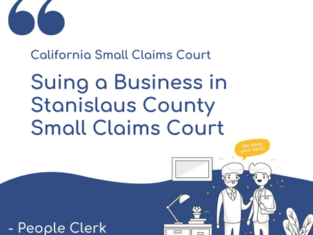 How to sue a company in Stanislaus Small Claims Court