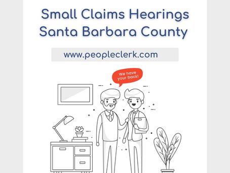 The Small Claims Hearing- Santa Barbara County