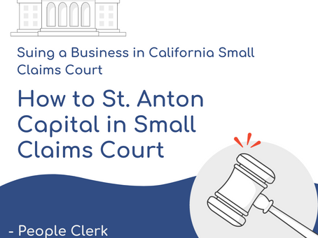 How to Sue St. Anton Capital in Small Claims Court