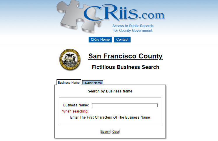 How to find the FBN in San francisco county small claims court