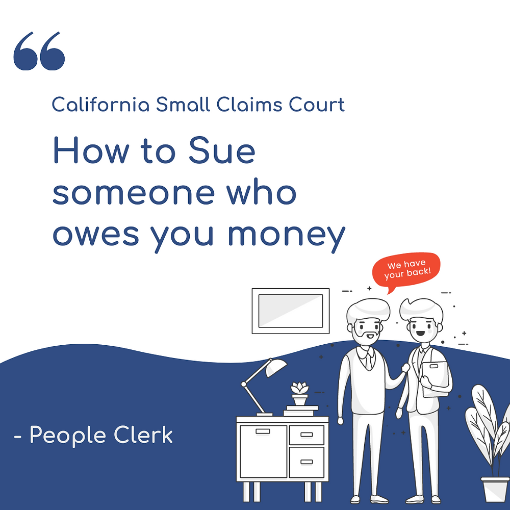 How to sue someone who owes you money