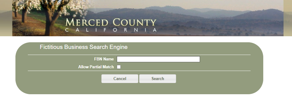 How to find a fictitious business name in Merced County