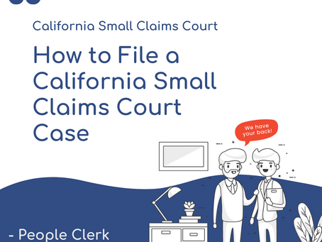 How to File a California Small Claims Court Case