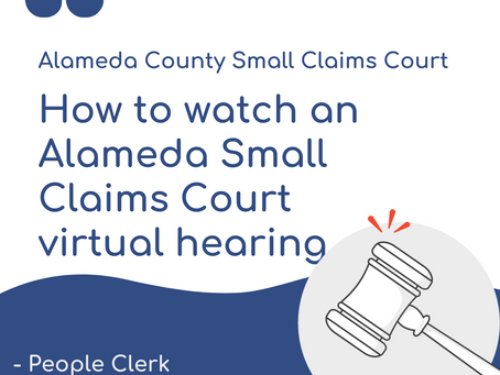 Alameda Small Claims Virtual Hearings