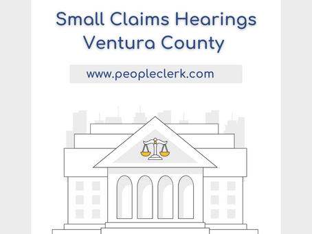 The Small Claims Hearing- Ventura County