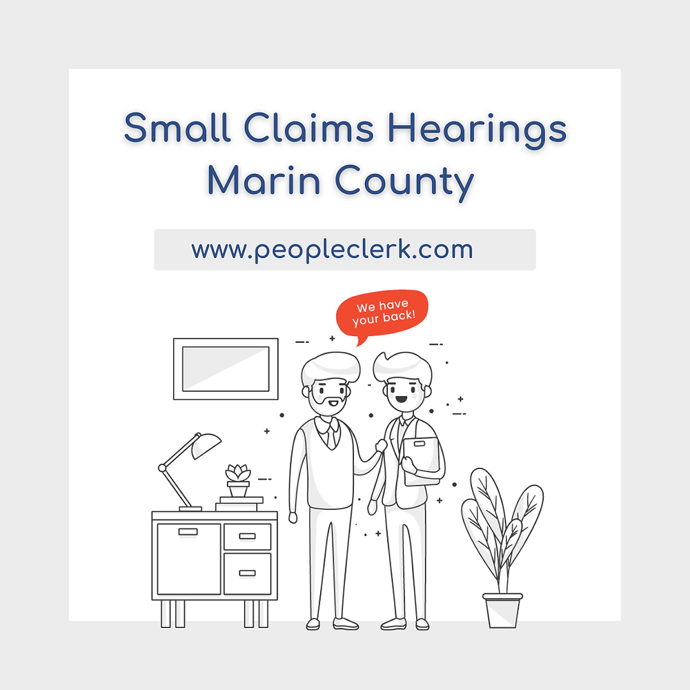 How to prepare for a small claims court hearing in Marin  county
