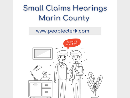 The Small Claims Hearing- Marin County